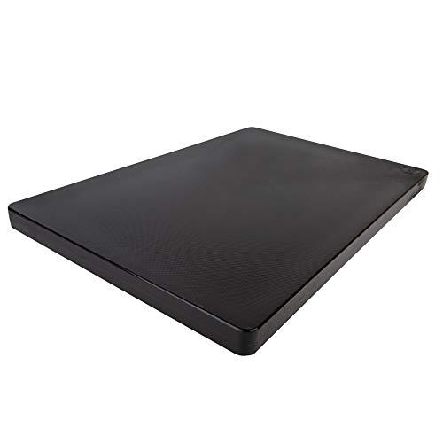 Restaurant Thick Black Plastic Cutting Board, 18x12, NSF 1 Inch Thick