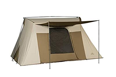 TETON Sports Mesa 14 Canvas Tent; 8 Person Family Camping Tent, Room with a View, Brown (2011)