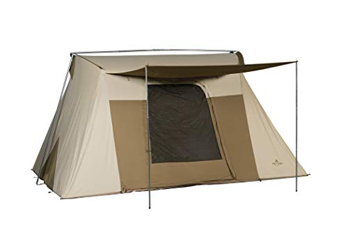 TETON Sports Mesa 14 Canvas Tent; 8 Person Family Camping Tent, Room with a View