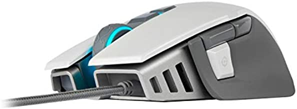 Corsair M65 RGB Elite - FPS Gaming Mouse - 18,000 DPI Optical Sensor - Adjustable DPI Sniper Button - Tunable Weights -White