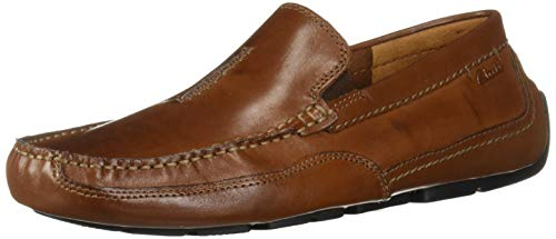 Clarks Men's Ashmont Race Driving Style Loafer, Cognac Leather, 11 M US