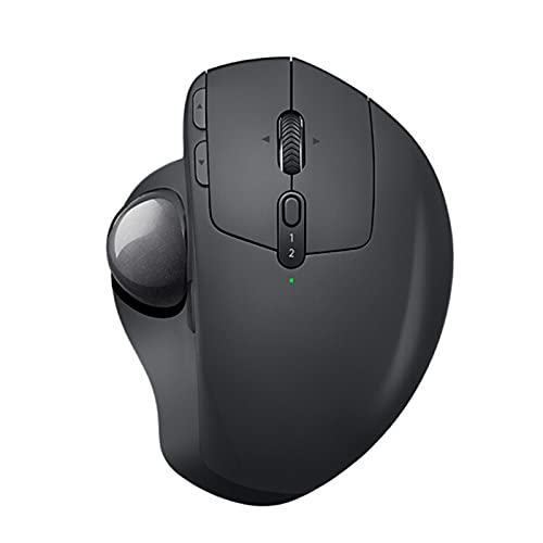 Atsti Wireless Trackball Mouse with Adjustable Ergonomic Design, Control and Move Text/Image/File Between 2 Windows and Computer (Bluetooth Or USB), Rechargeable-Black