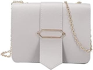 RONSHIN MeterMall Women Fashion Chain Design Single-Shoulder Crossbody Bag Casual Mini Square Bag