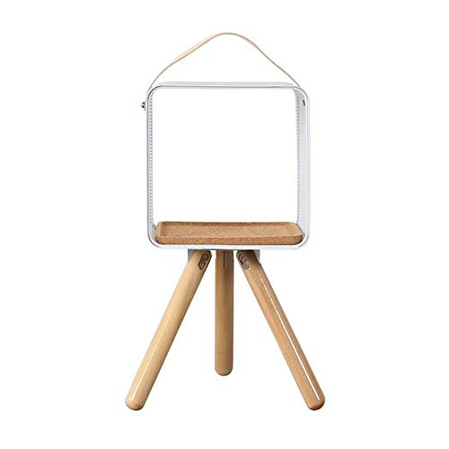 JCNFA Planken Boekenkast Draagbare Frame Woonkamer Creatieve Vloerstandaard Decoratieve Houten Smeedijzer Multifunctionele Zijkant