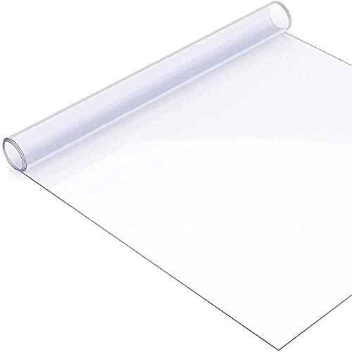 mmmy Mantel De PVC Transparente,Mantel Transparente De PláStico Impermeable para Mesa Cocina 0.5mm Protector De Escritorio,áNgulo Recto(Size:40x70cm/15.75x27.56in)