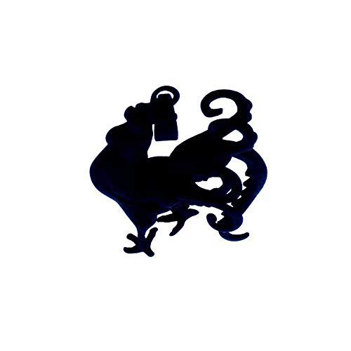 YQMR Colgante Collar para Mujer,Collar Colgante Vintage Pollos Huecos Negros Colgante De Animales Joyería Retro Unisex Regalo Clásico para Parejas Cumpleaños Dama Aniversario De Boda