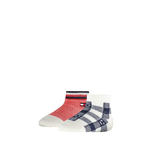 Tommy Hilfiger Plaid Check Baby Sock (2 Pack) Calcetines, Marca: Tommy Original, 23-26 para Bebés