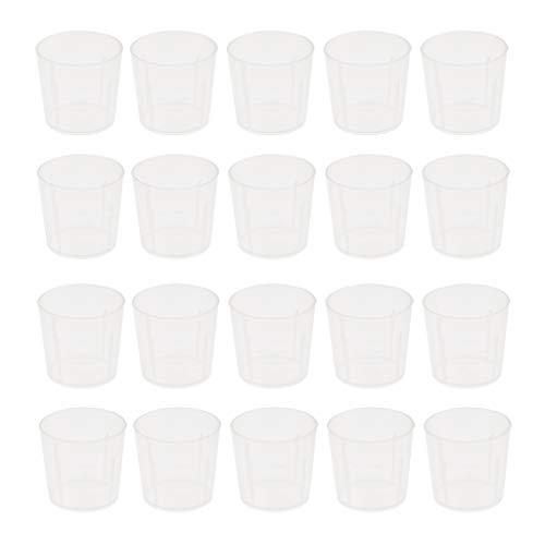 B Blesiya 20pcs 20ml Coupe Mesurer, Verre Doseur, Tasse à Mesureur en Plastique pour Cuisine ou Restaurant Animaux de Compagnie