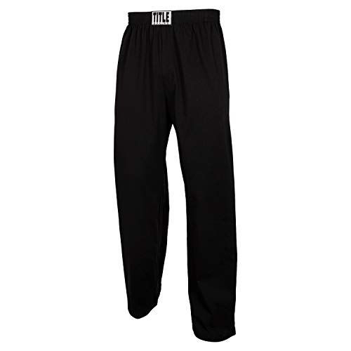 Title Boxing Cotton Jersey Pants, Black, X-Large