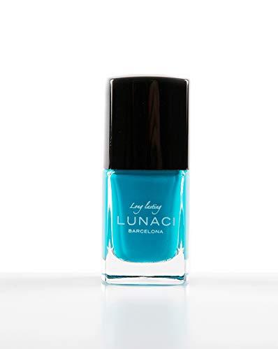 LUNACI Barcelona Laca de Uñas, Esmalte de Uñas Resplandecer Secado Ultra Rápido, Larga Duración, Sin Tolueno, Color: Azul Cielo, 13ml - (Tono: 32 / Sky Blue)