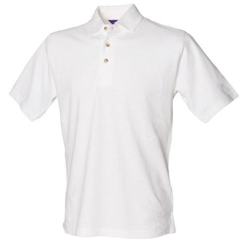 Henbury - Polo à manches courtes - Homme (2XL) (Blanc)