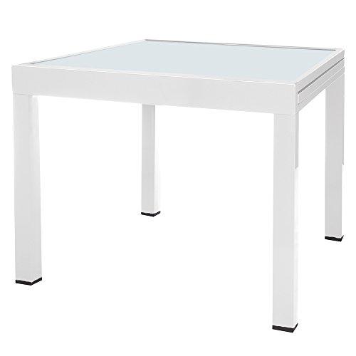 Mesa Extensible Blanca de Aluminio para terraza y Exterior Garden - LOLAhome