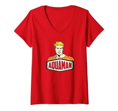 Mujer Aquaman Sign Camiseta Cuello V
