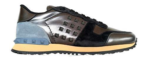 Valentino Garavani RY2S0748VLW Herren-Sneaker Rockstud Dunkelgrau, - dunkelgrau - Größe: 41.5 EU