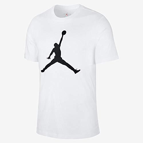 Nike M J Jumpman SS Crew, Tshirt Uomo, Bianco, S