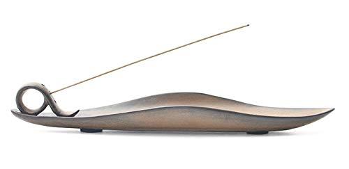 Djiale Incense Stick Holder Ceramic Incense Burner with Ash Catcher 9 inch(Shape 9)