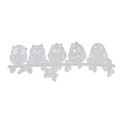 J-FEIFEI Corte de molde para fazer cartões e scrapbook artesanatos, coruja em um bramch, moldes de corte de metal para álbum, carimbo de papel, relevo, molde de papel feito à mão