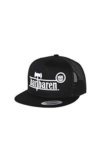 barTbaren Snapback Cap mit Netz in schwarz – verstellbare Unisex Basecap für Damen und Herren mit hochwertig aufgesticktem Axt Logo in weiß