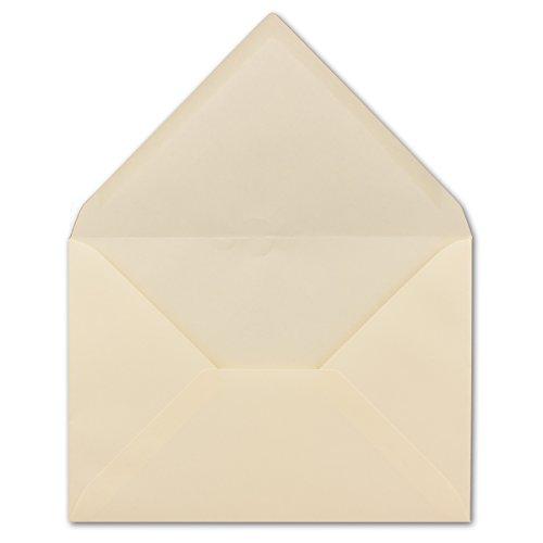 50 DIN C5 Briefumschläge Creme mit gerippter Struktur 22,9 x 16,2 cm 100 g/m² Nassklebung Post-Umschläge ohne Fenster ideal für Weihnachten Grußkarten Einladungen von Ihrem Glüxx-Agent