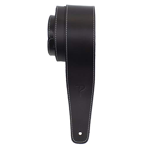 """Perri's Leathers Guitar Strap, 2.5"""" Wide Baseball Leather, Adjustable..."""