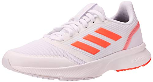 Adidas Nova Flow, Zapatillas Running Mujer, Blanco (FTWR White/Signal Coral/FTWR White), 39 1/3 EU