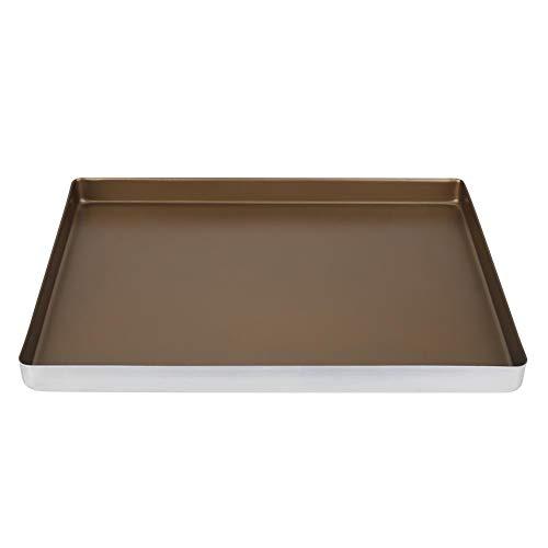 CHICIRIS Plateaux de Cuisson au Four en Alliage d'aluminium Plaque à Biscuits pour gâteau de Cuisson 40 * 30 * 3cm Moule de Cuisson pour Biscuits