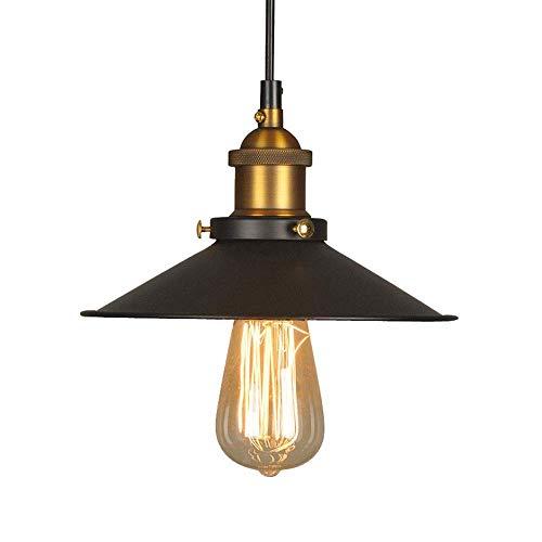 Lámpara techo colgantes Lámpara de ara?a de caldero de hierro antiguo LED Lámpara individual de dormitorio creativo