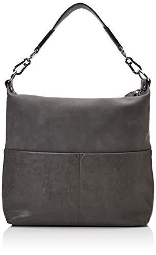 Esprit Accessoires Damen Vivien Hobo Schultertasche, Grau (Dark Grey), 12x32x43 cm