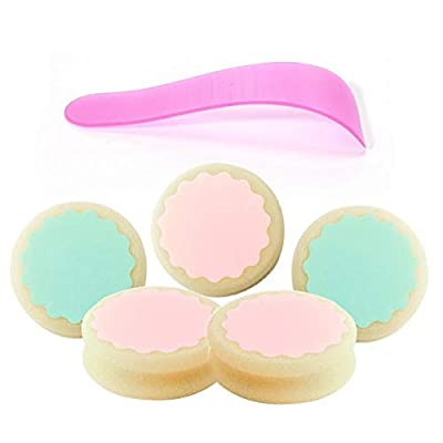 5 Pieces Hair Removal Sponge, Hair Removal Depilation Sponge Pad Remove Hair Epilator with Scraping Board, for Face Leg Arm Body Hair Removal Tool