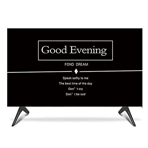 FFJD Estilo Europeo Black Indoor Pop TV TV TV, Tipo De Cubierta 19 '' - 65 '' LCD TV Quality Polyester Polvo A Prueba De Polvo Proteja Su Televisor(Size:32 in [W 77-H 48cm])