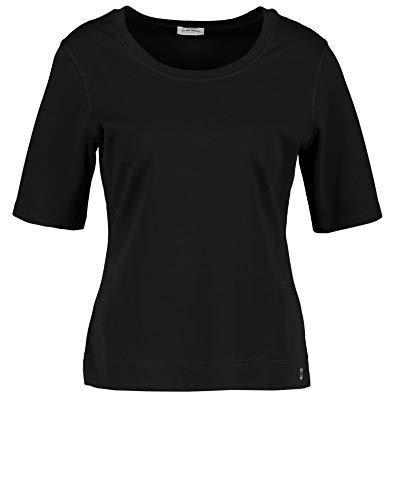Gerry Weber Damen 1/2 Arm Basic Shirt Figurumspielend Schwarz 48