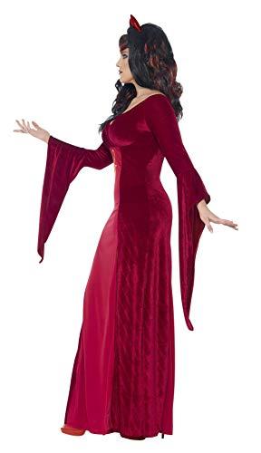 SMIFFYS Costume Diavolo con Curve, Rosso, comprende Abito con Corna