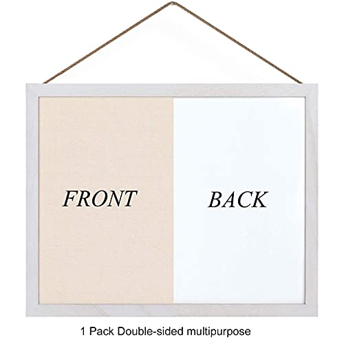 Emfogo Cork Board with 19x15 inch Combination White Board & Bulletin Cork Board 1-Pack Bulletin Board for Wall Home Office Decor,Home School Office Message Board or Vision Board Photo #2