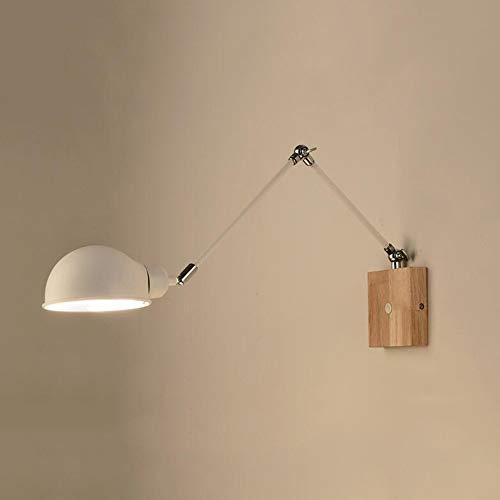 YLCJ wandlamp lange arm, wandlamp wandlamp tafellampen en nachtkastje B ettilde o massief hout Sal oacute n -D 48x45cm (19x18 inch)