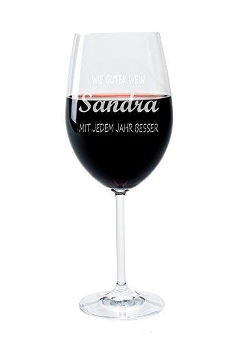LEONARDO FORYOU24 Weinglas mit Gravur Motiv Wie guter Wein Wein-Glas graviert Geburtstagsgeschenk