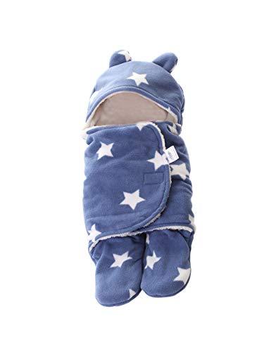 Recién nacido Swaddle Wrap saco de dormir de bebé - Cálido Baby carrito cochecitos Suave impresión manta Fotografía Prop.[TAAMBAB]