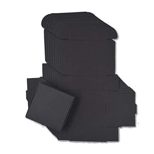CTOBB 20 stks 19 maten Zwart gift karton doos bruin kraft doos zeep verpakking geschenkdoos wit sieraden geschenkverpakking papier doos