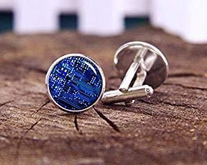 Gemelli a circuito, circuiti PCB, circuiti informatici, gemelli personalizzati, gemelli per matrimonio unici, regali di nozze da uomo, testimone