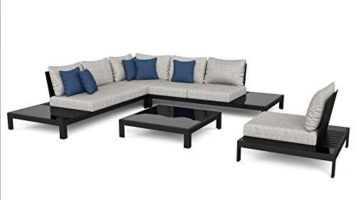 ARTELIA Valentino L Aluminium Loungegruppe Loungemöbel Gartenmöbel-Set Sitzgruppe für Garten, Terrasse und Wintergarten, Premium Terrassenmöbel Anthrazit