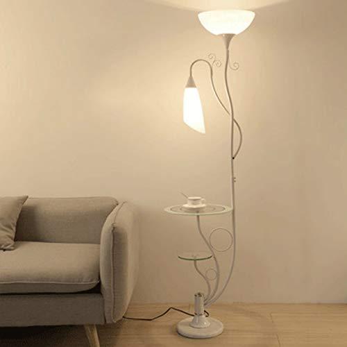 OUPPENG Lámpara de piso, Lámpara de pie mesa de café nórdica salón cama y sofá dormitorio simple luz creativa del mando a distancia vertical de la luz WF5151140 diseñada de la vendimia