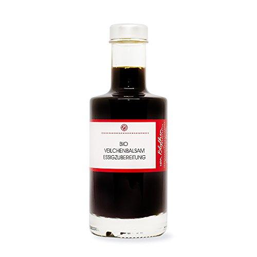 Bio Veilchen Balsamico Essig – Essigzubereitung mit Veilchenblüten und Honig 200 ml – Manufaktur von Blythen