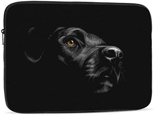 Portrait of A Bat - Funda para ordenador portátil compatible con 10 – 17 pulgadas, diseño de retrato de un labrador Retriever de 10 pulgadas