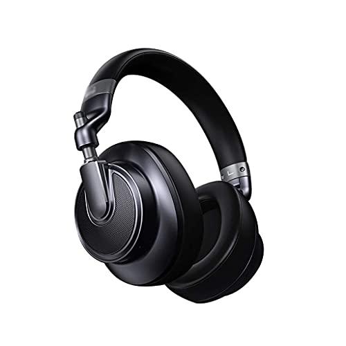 Auriculares Auriculares Bluetooth sobre Oreja Híbrido Híbrido Activo Cancelación Proteína Earmuffs Cargo RÁPIDO Modo Cambio Modo INTERCADO Mic Gaming (Color : Black)