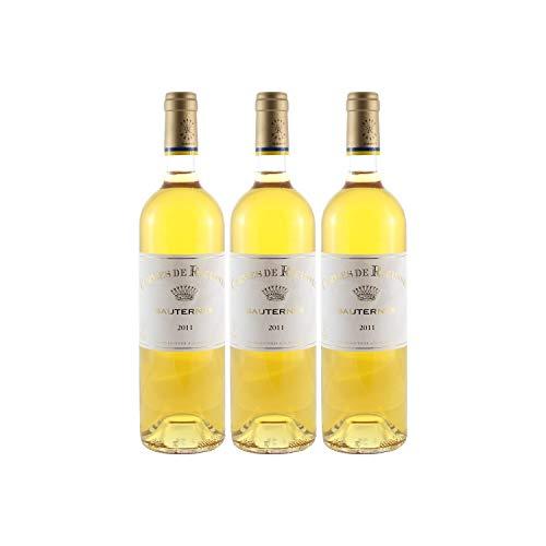Château Rieussec Les carmes de Rieussec Weißwein 2011 - g.U. Sauternes süßer - Bordeaux Frankreich - Rebsorte Sauvignon Blanc, Sémillon, Muscadelle - 3x75cl