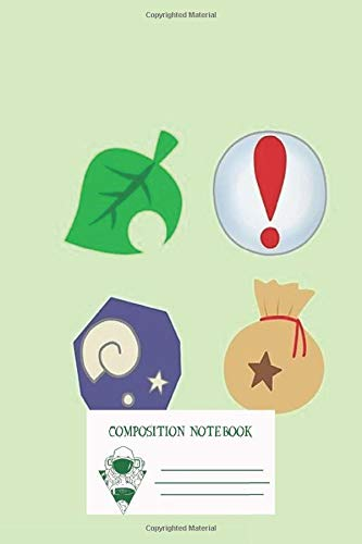 Composition Notebook: Animal Crossing Icons Workbook for Adult