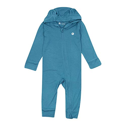 Shedo Lane Baby Long Sleeve Hooded Zipper Romper UPF 50 - Blue Moon - 0-3M