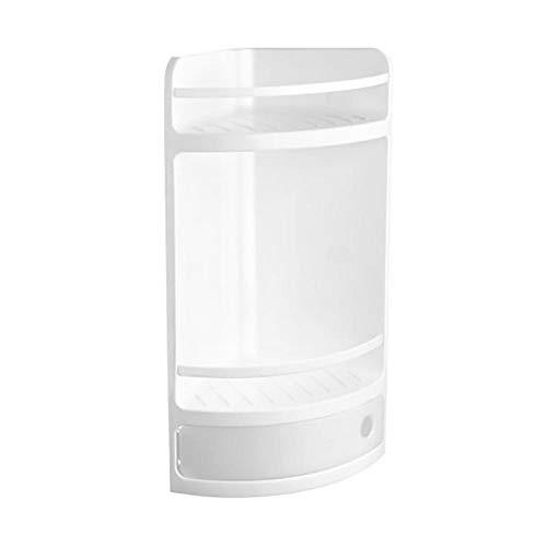 Tatay rinconera Material plástico Blanco, con cajón con práctica Apertura. Higiénica y fácil Mantenimiento. Medidas 20x20x50 cm