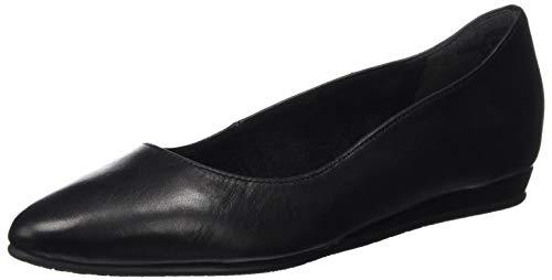 Tamaris Damen 1-1-22118-24 Geschlossene Ballerinas, Schwarz (Black Leather 003), 36 EU