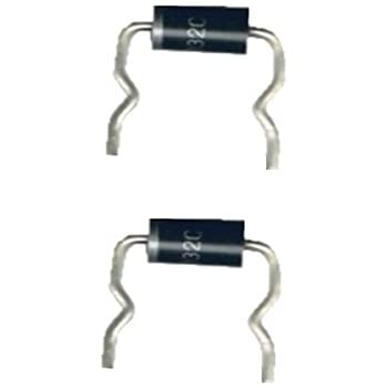 1N5406 Diode Gleichrichterdiode 3 A 600 V 2 Stück 0017