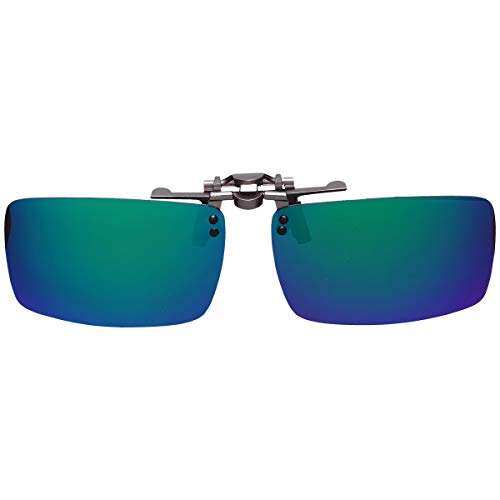 GoodsLand 【 8color 】 クリップオン サングラス 偏光 釣り 運転 調光 眼鏡 メガネ クリップ式 メンズ レディース GD-CL-GLASS-MRGR